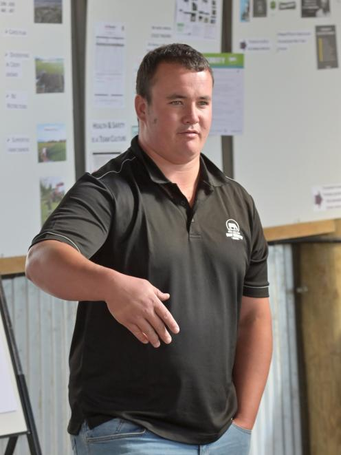 Southland-Otago dairy farm manager of the year James Matheson.