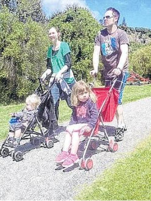 Bring the family . . . Prams are welcome on the Town Belt Traverse. PHOTO: SUPPLIED