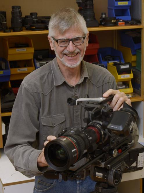 Natural History New Zealand cameraman and director Max Quinn is in his 50th year of film-making. PHOTO: GERARD O'BRIEN