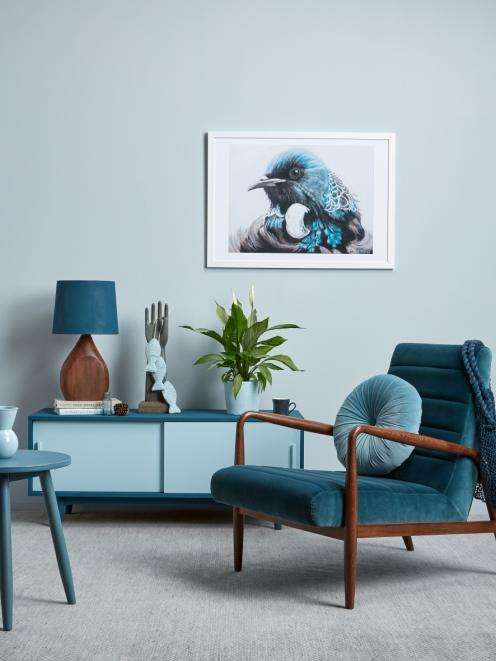 Birds and fish are especially popular symbols in New Zealand interiors. Wall in Resene Half Duck...