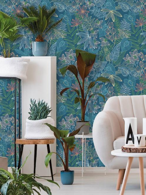 Leaf motifs punctuated with soft cheerful colours, Resene Wallpaper Collection 36630-1 is...