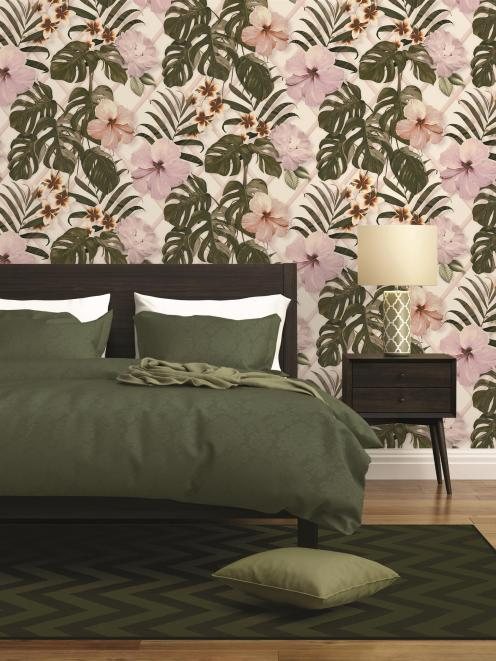 Resene Wallpaper Collection 36518-1 brings in bold botanicals and blends them with on trend...