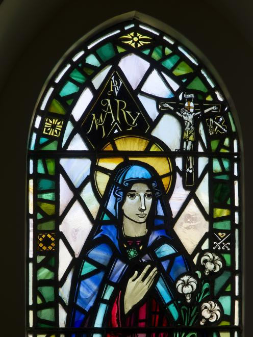 Virgin Mary, designed by Ken Bunton, executed by Roy Miller, 1962. St Jude's  Anglican Church, 68...