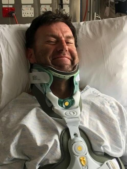 Ryan Walsh recovering in hospital. Photo: Turners Media via RNZ