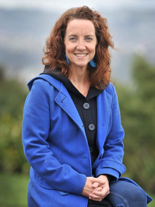 Sitting at Rotary Park near her new home in Dunedin is ChildFund senior technical adviser Sally Angelson, who continues her work after moving south. PHOTO: CHRISTINE O'CONNOR