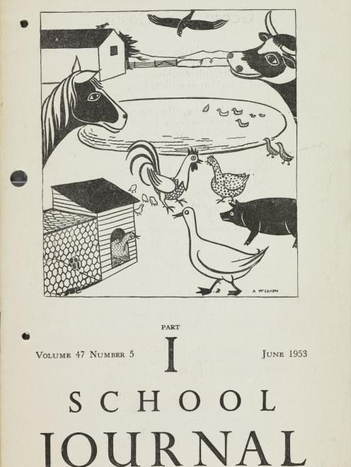 A School Journal cover illustration by Anne McCahon