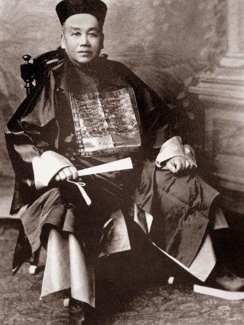 Choie Sew Hoy, merchant, miner and mandarin, pictured here in a Burton Brothers photograph. PHOTO...