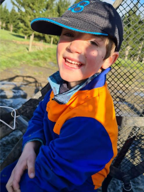 Ryan Campbell (7), of Clydevale,  was more than happy to spend his week of lockdown giving his...