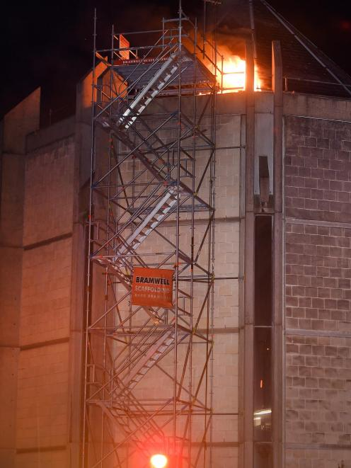 Crews were called to the fire about 3.30am. Photo: Stephen Jaquiery