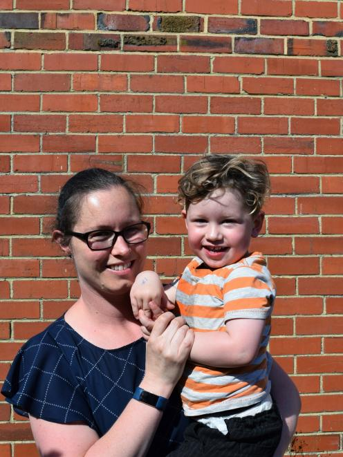 Little Citizens Early Learning Centre pupil Lucas Knox, of St Kilda, (with his mother Michelle...