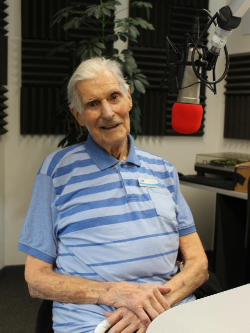 After years of experience, Lloyd Martin is pretty relaxed when it comes to talking on the radio....