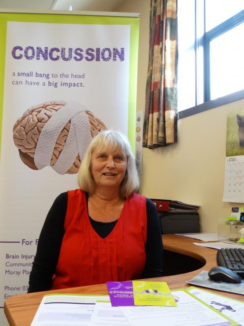 Brain Injury Association Otago Inc liaison officer Sue Whyte has been supporting a local family in dealing with the consequences of concussion. PHOTO: BRENDA HARWOOD
