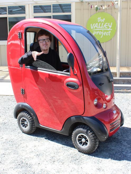 Rorie White shows off  his new set of wheels. PHOTO: ELLA STOKES