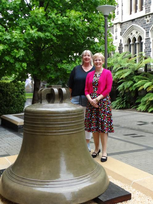University of Otago 150th anniversary project co-ordinator Kerry Buchan (left) and convener Prof...