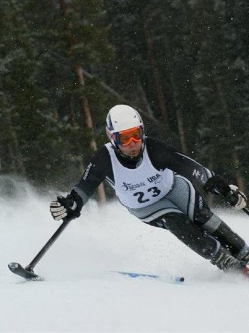2010 Paralympic champion Adam Hall is training for the 2014 Sochi Winter Paralympics. Photo...