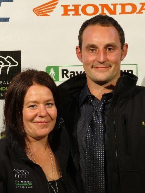 2012 Otago Farm Manager of the Year winners Angela and Gareth Dawson from Clinton. Photo by New...