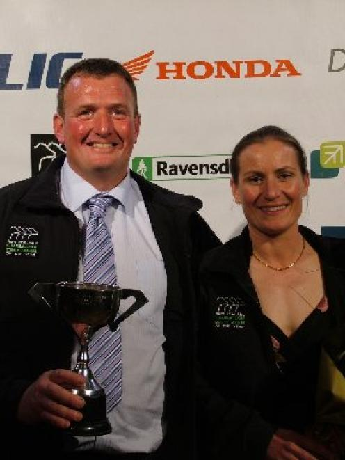 2012 Otago Sharemilker/Equity Farmer of the Year winners James and Helen Hartshorne from Tapanui....
