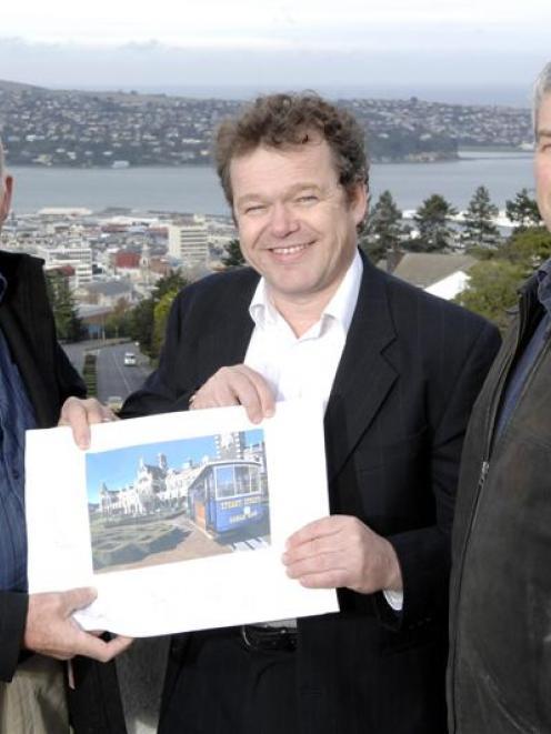 Dunedin men (from left) Graeme Burgess, Eckhard Marthen and Chris Reid are developing plans to...