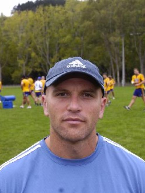 Highlanders trainer Matt Dallow. Photo by Peter McIntosh.