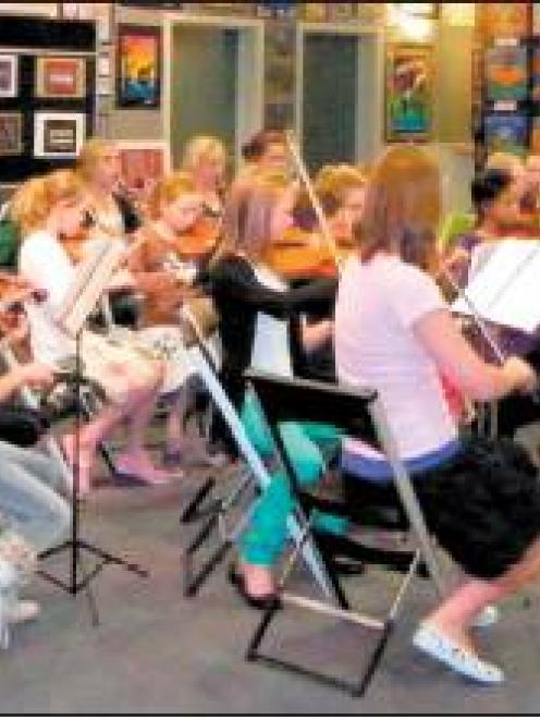 The Central Otago Regional Training Orchestra in top form during a performance last week, under...