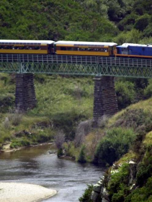 The Taieri Gorge train. Photo: ODT files.