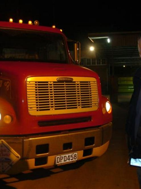 Dunedin transport operator Peter Sutherland said yesterday more than 40 trucks could converge on...