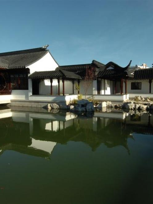 The newly-opened Chinese garden in Dunedin proved a tranquil spot yesterday, when it opened to...