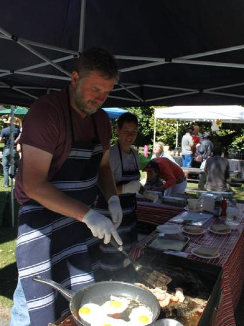 'Accidental chicken farmers' Dan Love and his wife Lesley, of Omakau, serve up eggs at the...