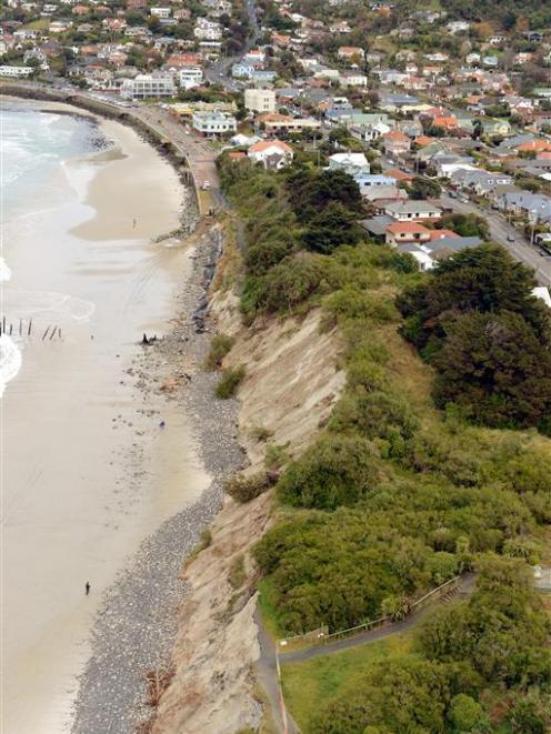 Erosion at St Clair and Middle beachPHOTO: STEPHEN JAQUIERY