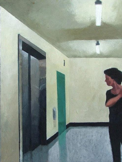 """""""Figure at elevator"""", by Duncan West"""