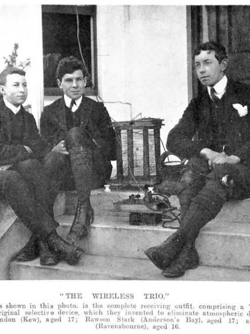 "(From left) Cyril Brandon, Rawson Stark and Stanton Hicks with their ""receiving outfit"",..."