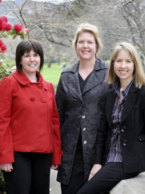 (From left) University of Otago historian Dr Angela Wanhalla, immunologist Dr Sarah Young and...