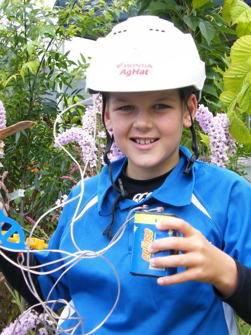 Gareth Turnock, 11, of Limehills School