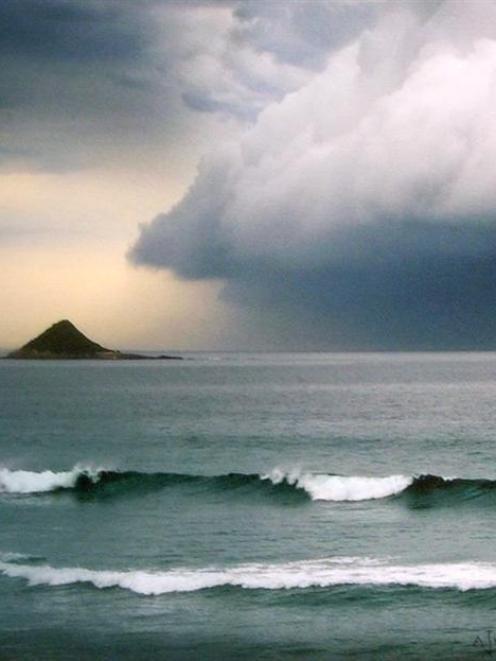 <i>Cold front, Ocean View</i>, by John V. Hart.