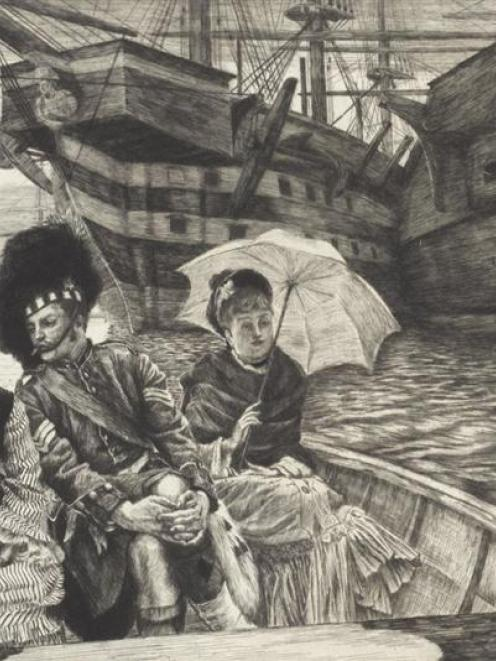 <i>Entre les deux mon coeur balance (How happy I could be with either),</i> 1877, by James Tissot...