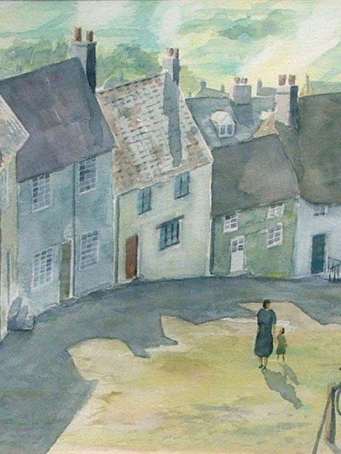 <i>Gold Hill, Shaftesbury,</i> by Ron Esplin