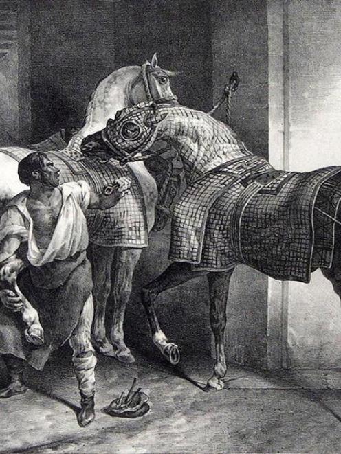 <i>Le marechal Anglais </i> (The English blacksmith), by Theodore Gericault.