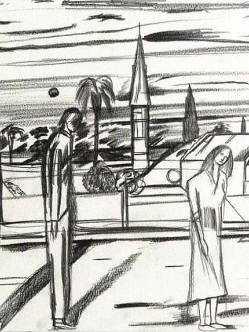 <i>Looking toward St Kilda</i>, by Jeffrey Harris.
