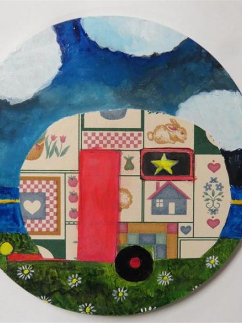 <i>Summer is a wallpaper caravan II</i>, by Pamela Brown