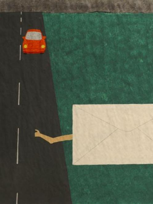 <i>Travelling Envelope #5</i>, by Nick Austin.