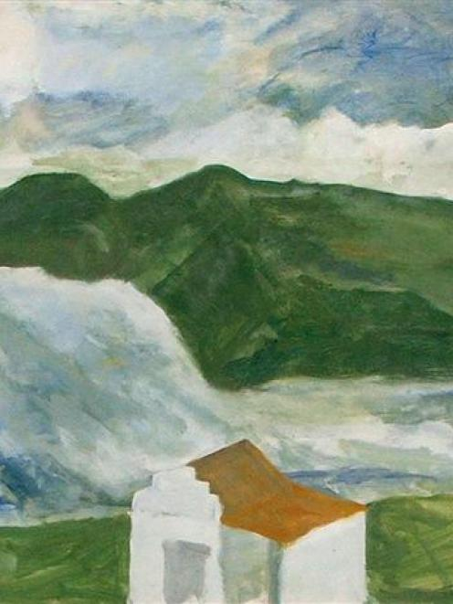 <i>Untitled (Otago Peninsula and house)</i>, by Anna Caselberg