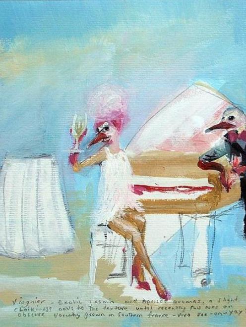 <i>Viognier</i>, by Sharon Singer.
