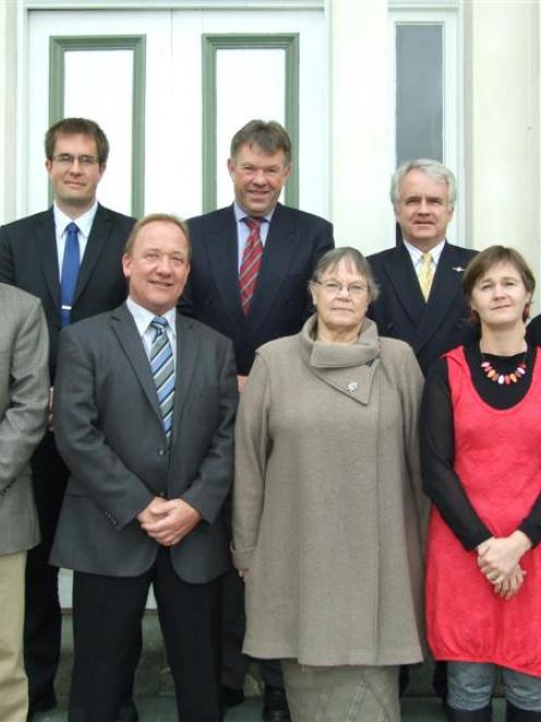 The last Telford Rural Polytechnic council met for the final time yesterday. They are (front from...