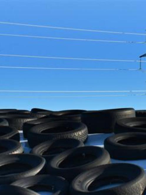 Tyres, which are put in the landfill in Dunedin at present because of the lack of recycling...