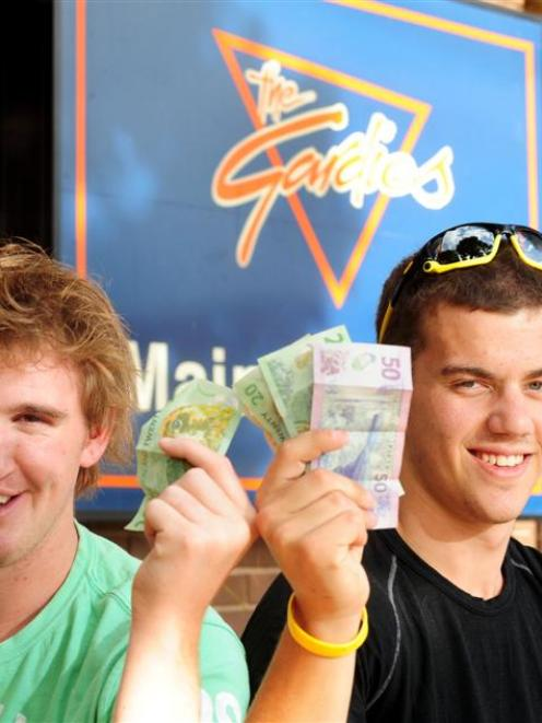 University of Otago students and flatmates Tom McKnight (left) and Blake Luff are looking for...