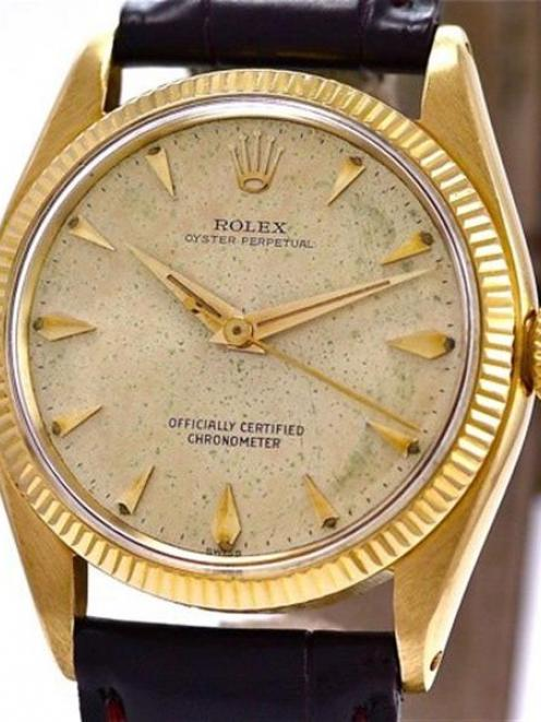 A 1958 gold Oyster Perpetual Rolex watch, almost identical to the one owned by Mr McCaw. Damaged...