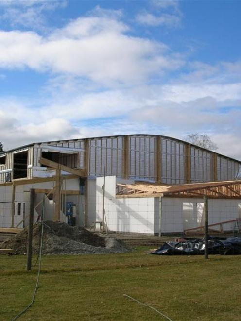 A $2.3 million gymnasium at Dunstan High School, in Alexandra, is nearing completion ahead of a...