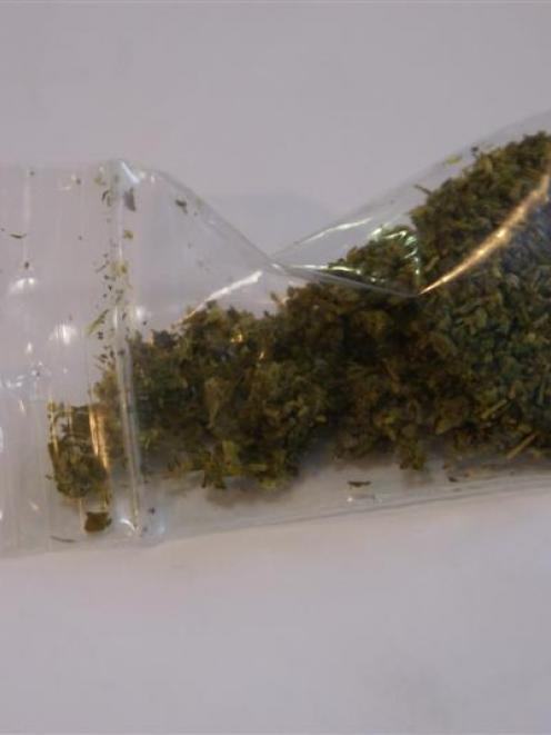 A bag of synthetic cannabis product. Photo by Rachael Comer.