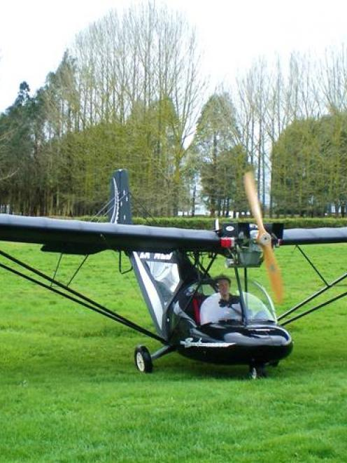 A Bantam microlight made in Hamilton. The model is soon to be manufactured by the Croydon...