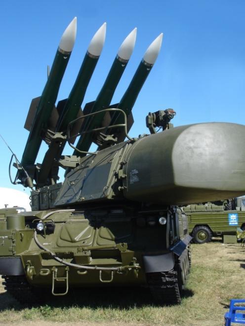 A BUK missile system.
